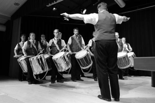 Drum Corps beim Wettbewerb